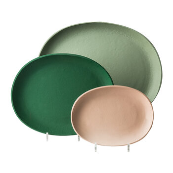 Greek Tray - Set of 3 - Green