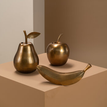 Pear Moneybox - Gold