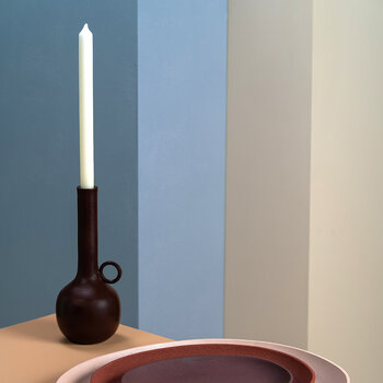Spartan Candle Holder - Brown