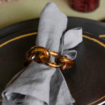 Tortoiseshell Napkin Ring - Set of 4