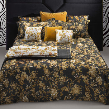China Birds Quilt Set - Gold/Black