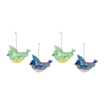 Peacock Tree Decoration - Set of 4