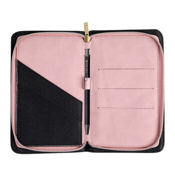 Travel Documents Holder - Gold/Clove