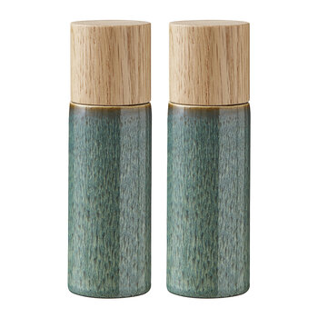 Stoneware Salt & Pepper Shakers - Green