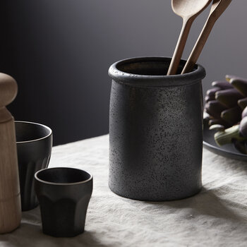 Pion Utensil Holder - Black/Brown