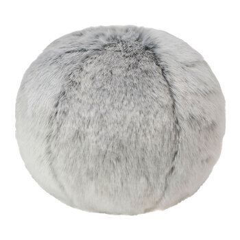 Faux Fur Snowball Pillow - Glacier