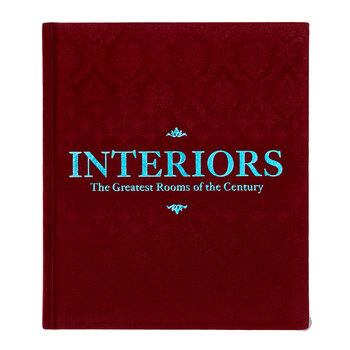 Interiors: The Greatest Rooms of the Century Book - Merlot Red