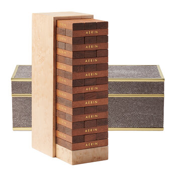 Shagreen JENGA Set - Chocolate