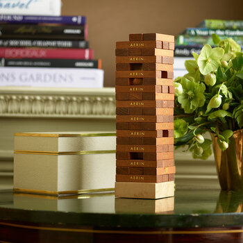 Shagreen Jenga Set - Cream