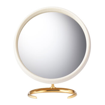 Shagreen Vanity Mirror - Cream