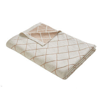 Diamond Knit Throw - Rose Gold