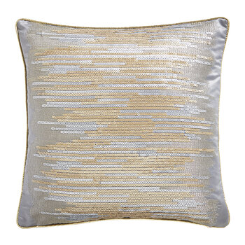 Shimmer Sequin Cushion - Gold