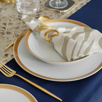 Glam Dinner Plate - Set of 4 - Gold