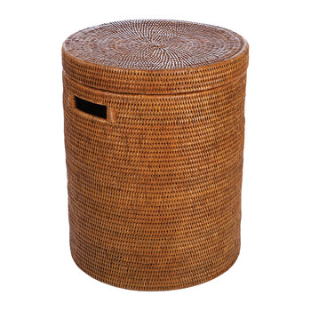 Rattan Laundry Basket - Dark