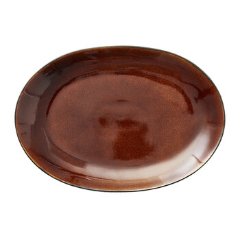 Oval Serving Dish - Amber