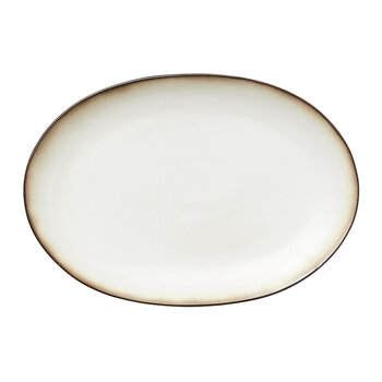 Oval Serving Dish - Cream