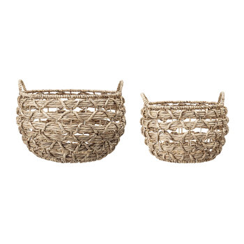 Water Hyacinth Basket - Set of 2