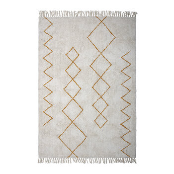 Zig Zag Cotton Rug - Yellow