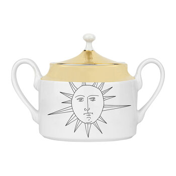 Solitario Sugar Bowl - White/Black/Gold