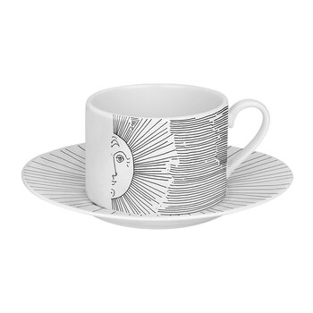 Solitario Teacup - White/Black