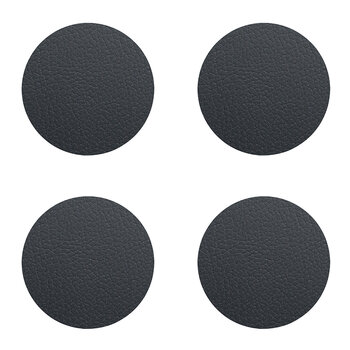 Bull Circle Drinks Coaster - Set of 4 - Black
