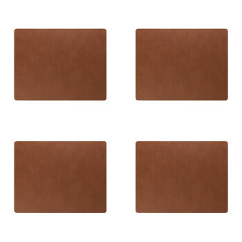 Bull Square Table Mat - Set of 4 - Nature