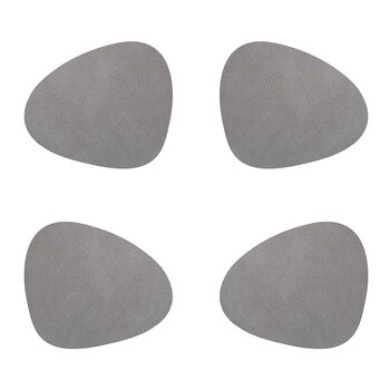 Hippo Curve Table Mat - Set of 4 - Anthracite