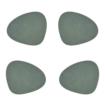 Hippo Curve Table Mat - Set of 4 - Pastel Green