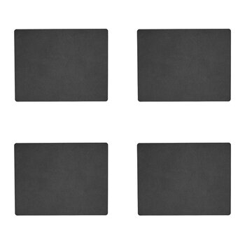 Hippo Square Table Mat - Set of 4 - Anthracite Black