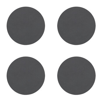 Nupo Circle Drinks Coaster - Set of 4 - Anthracite