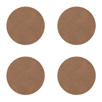Nupo Circle Drinks Coaster - Set of 4 - Brown