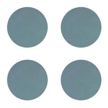 Nupo Circle Drinks Coaster - Set of 4 - Light Blue