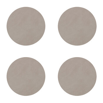 Nupo Circle Drinks Coaster - Set of 4 - Light Gray