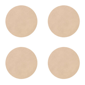 Nupo Circle Drinks Coaster - Set of 4 - Sand