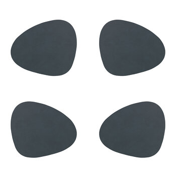 Nupo Curve Drinks Coaster - Set of 4 - Anthracite