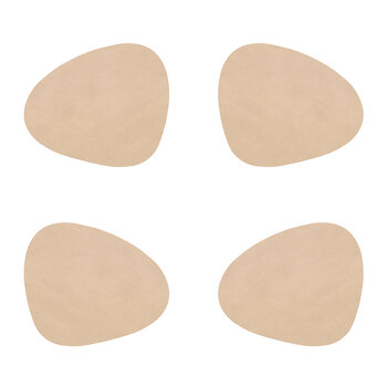 Nupo Curve Drinks Coaster - Set of 4 - Sand