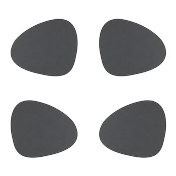 Nupo Curve Table Mat - Set of 4 - Anthracite