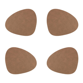Nupo Curve Table Mat - Set of 4 - Brown
