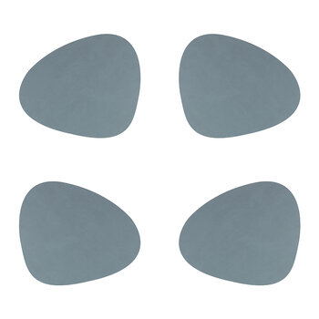 Nupo Curve Table Mat - Set of 4 - Light Blue