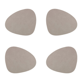 Nupo Curve Table Mat - Set of 4 - Light Grey