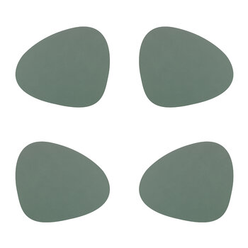Nupo Curve Table Mat - Set of 4 - Pastel Green