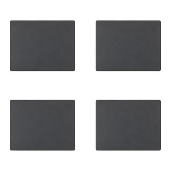 Nupo Square Table Mat - Set of 4 - Anthracite