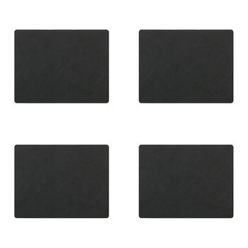 Nupo Square Table Mat - Set of 4 - Black
