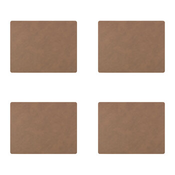 Nupo Square Table Mat - Set of 4 - Brown