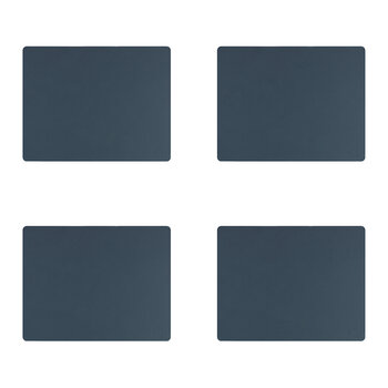 Nupo Square Table Mat - Set of 4 - Dark Blue