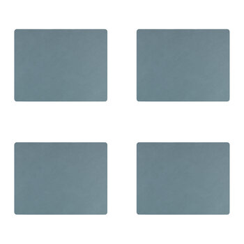 Nupo Square Table Mat - Set of 4 - Light Blue