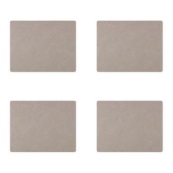 Nupo Square Table Mat - Set of 4 - Light Gray