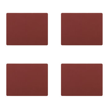 Nupo Square Table Mat - Set of 4 - Red