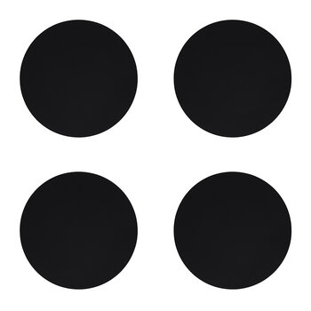 Softbuck Circle Drinks Coaster - Set of 4 - Black