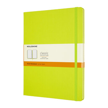 Extra Large Hardback Notebook - Lemon Green